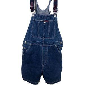 Vtg 90's Tommy Jeans Overalls Carpenter Bib Large